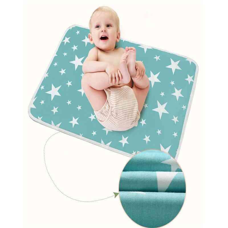 Washable Newborn Baby &  Geometry Cotton Mattress, Breathable Supplies Waterproof Crib Sheet