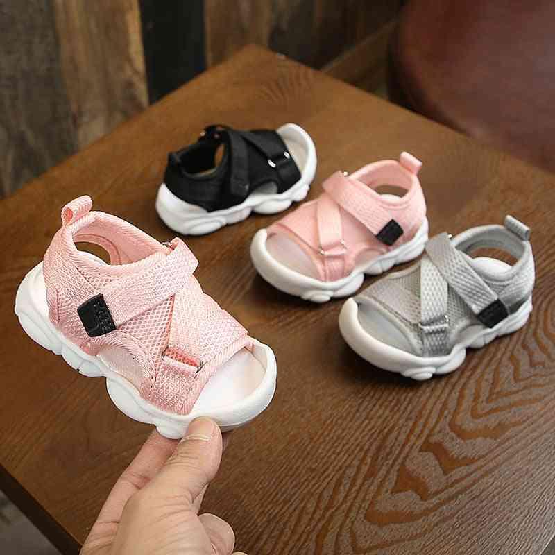 Canvas Infant Girl Sandals, Summer Walking Shoes, Newborn Sneaker