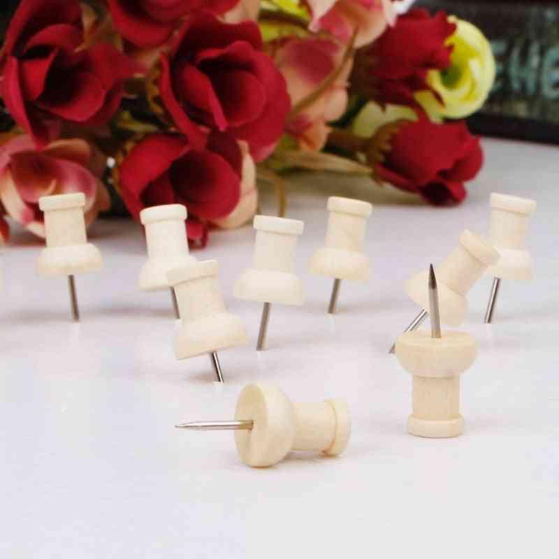 Wooden Thumbtack -creative Decorative Drawing Push Pins
