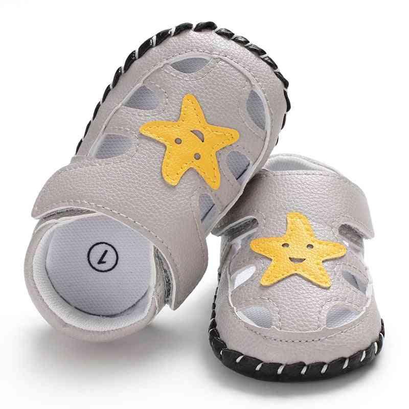 New Fashion Newborn Baby Boy Girl Soft Sole Shoes - Summer Leather Sandals
