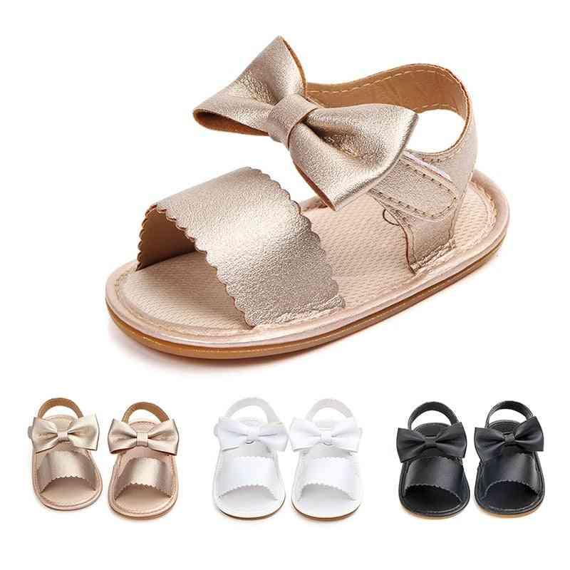 Baby Girl Princess Sweet Big Bowknot Soft Soles Anti-slip Chic Elegant Shoes
