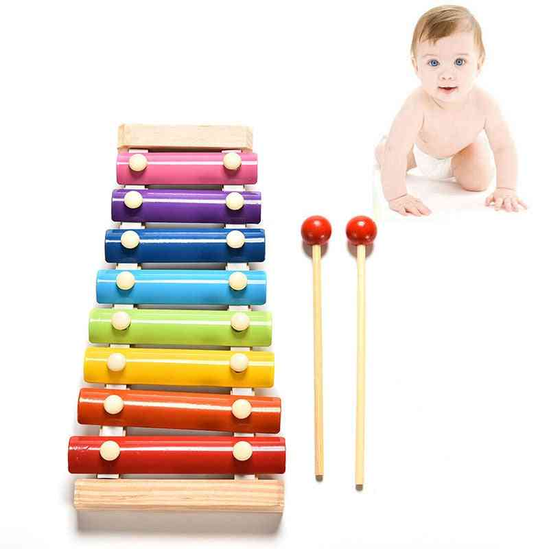 Children Early Educational Learning Puzzle Wooden- Xylophone Musical Toy Wisdom Music Instrument 8 Tone