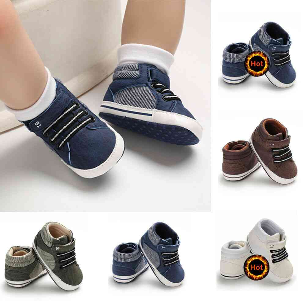 Newborn Infant Baby Boy Crib Shoes, Toddler Sneakers