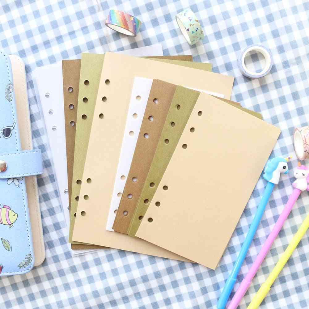 6 Rings Refilling Inner Craft Paper For Binder Notebook