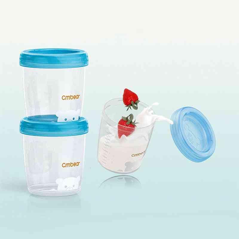 Breast Milk Storage Bottle- Wide Neck Infant Food Freezer Cup