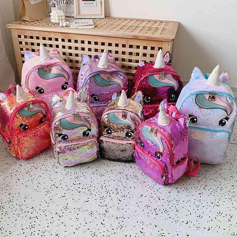 Cartoon Cute Backpack, Sequins Unicorn, Large Kawaii, School Bags