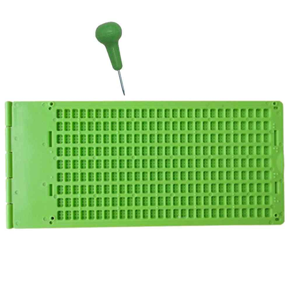 Braille Writing Slate With Stylus