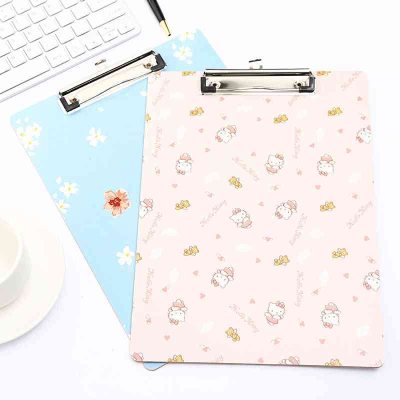 Cute Print Wooden Handwrting Clip Board For A4 Size Papers