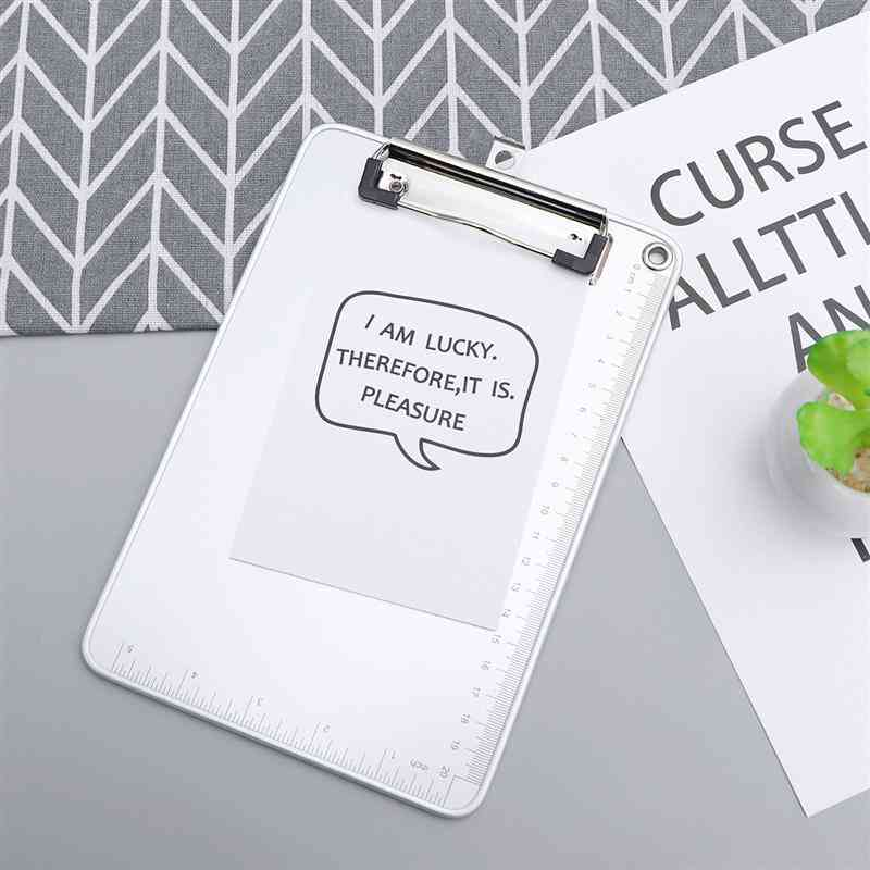 A5 Aluminum Alloy Clip Board For Daily/office/school Use