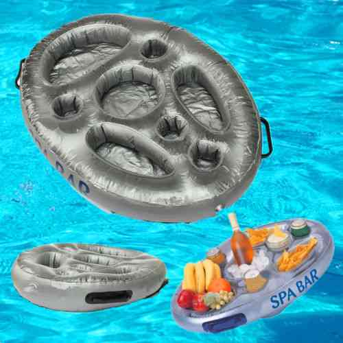 Inflatable Spa Bar Hot Tub, Pool Floating Drinks And Food Holder Tray