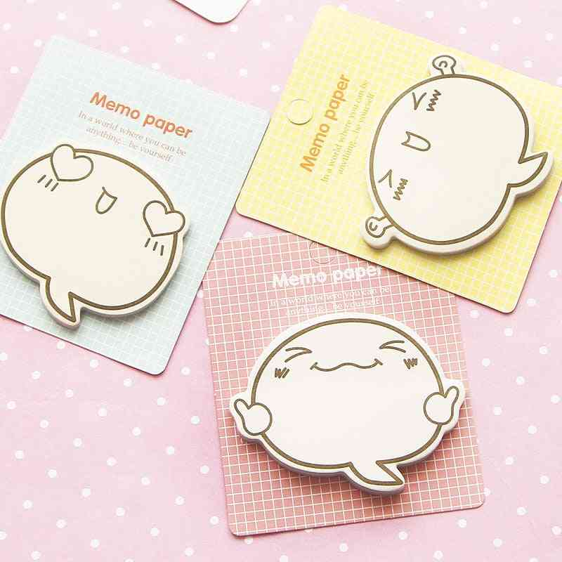 Cute Face Memo Sticky Notes