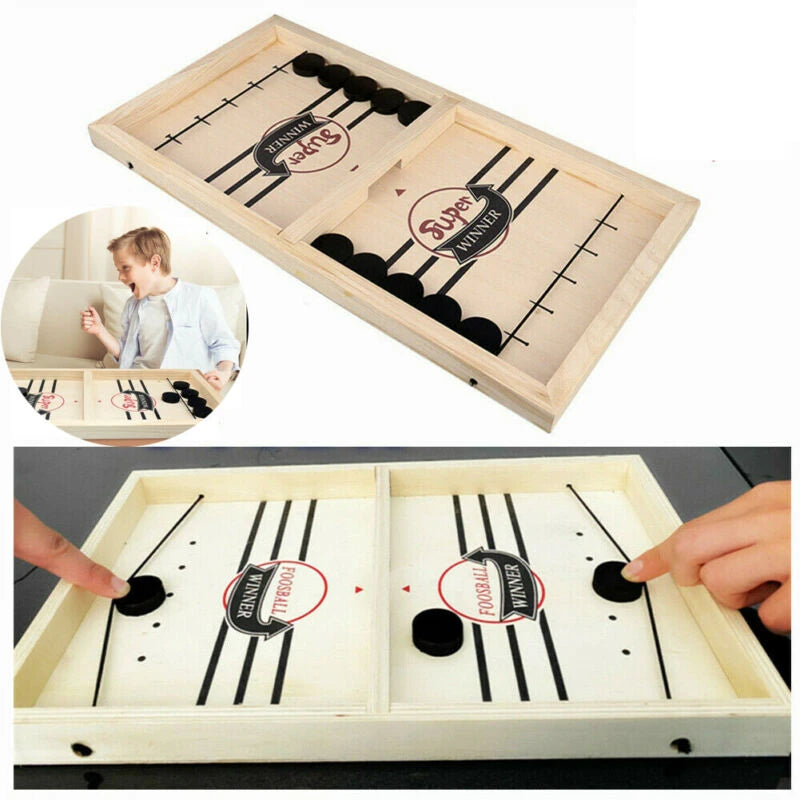 Paced Sling Puck Winner Fun, Family Board Game, Fast Hockey