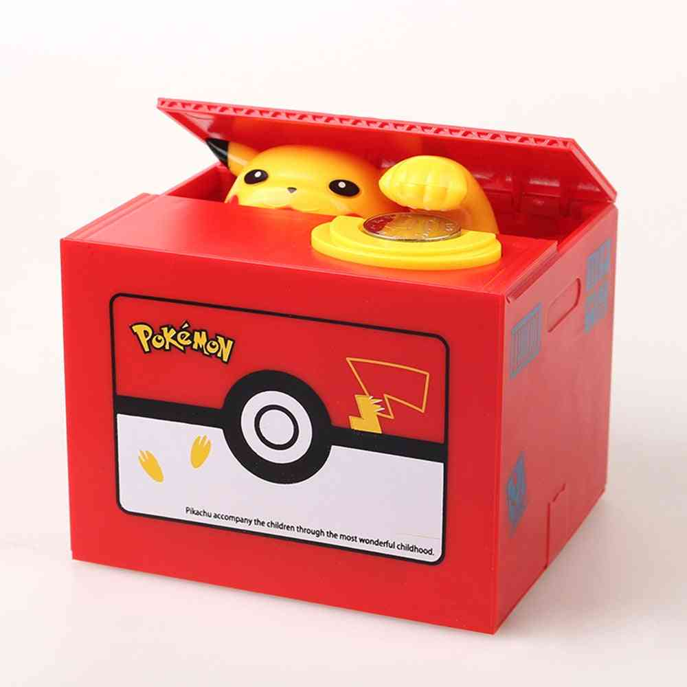 Pikachue Electronic Plastic Money Box Steal Coin, Piggy Bank