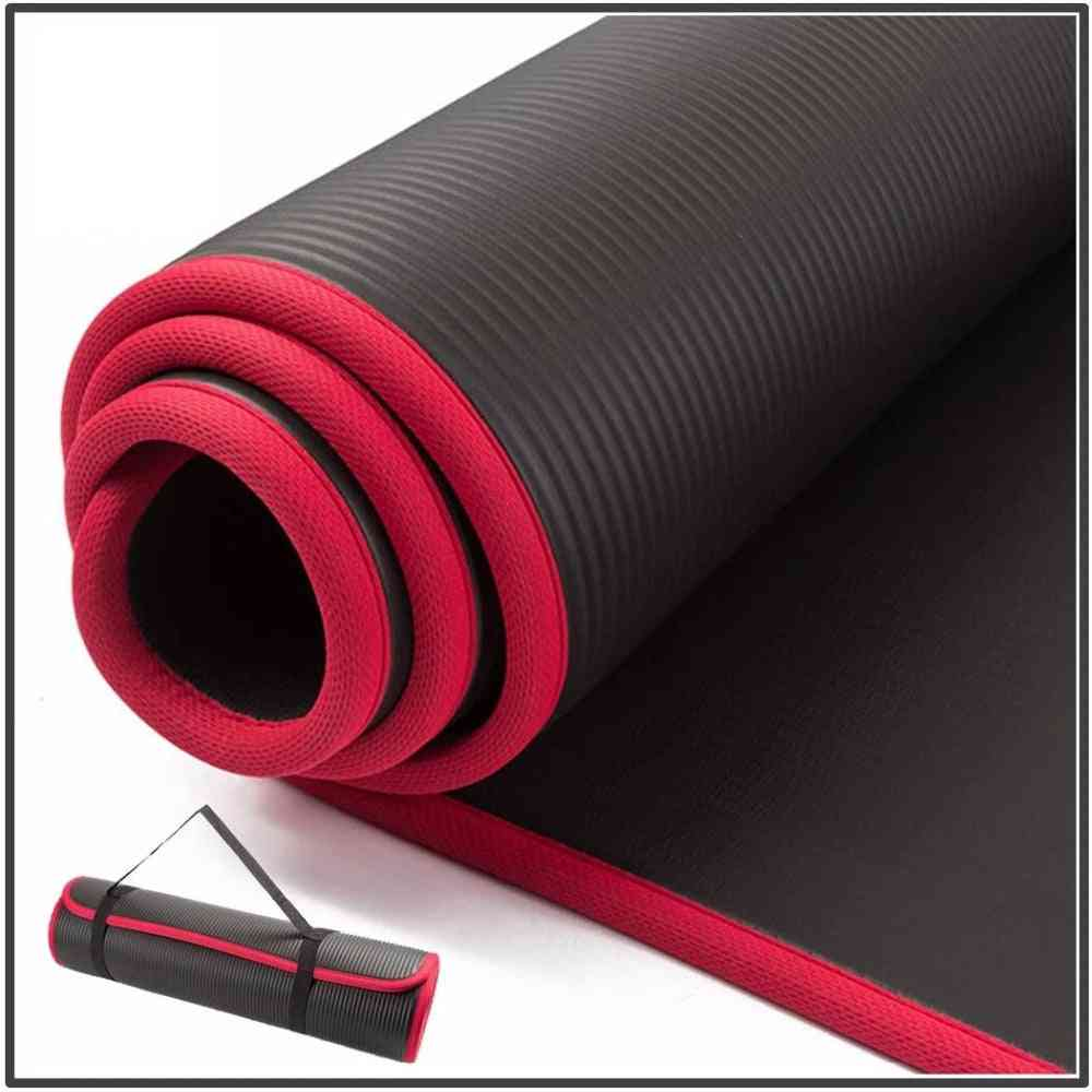 Extra Thick High Quality Nrb Non-slip Yoga Mats For Fitness Tasteless Pilates Gym Exercise Pads With Bandages