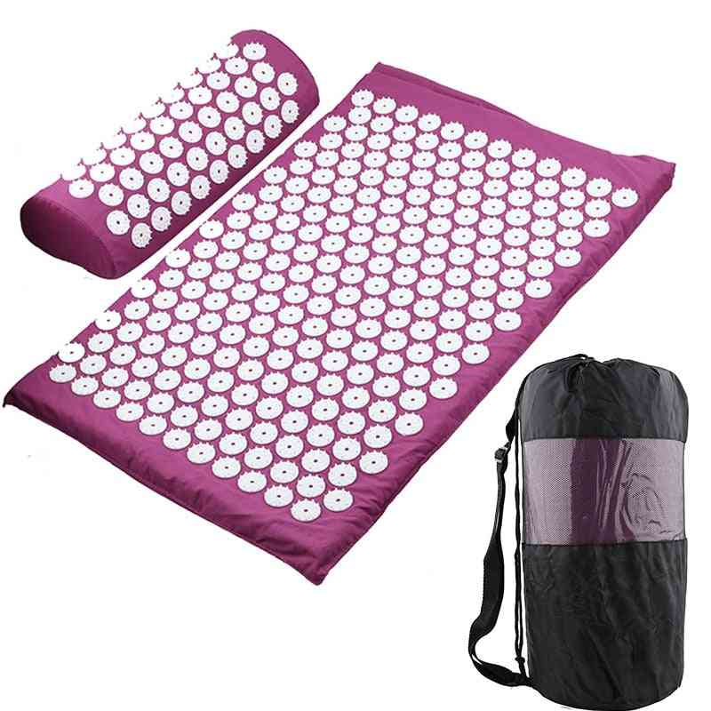 Massager Cushion Yoga Mat-acupressure Stress, Back Body Pain Reliever