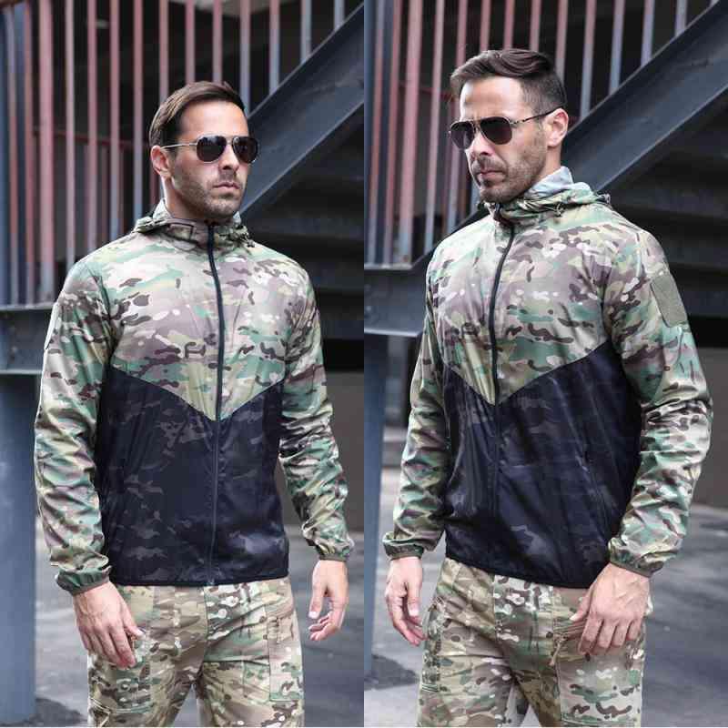 Tactical Windbreaker Military Camouflage Jacket