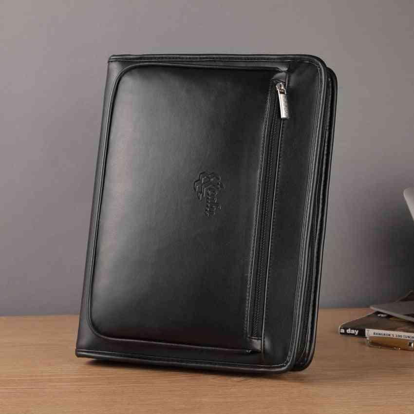 A4 Leather Expanding File Folder- Document Organizer