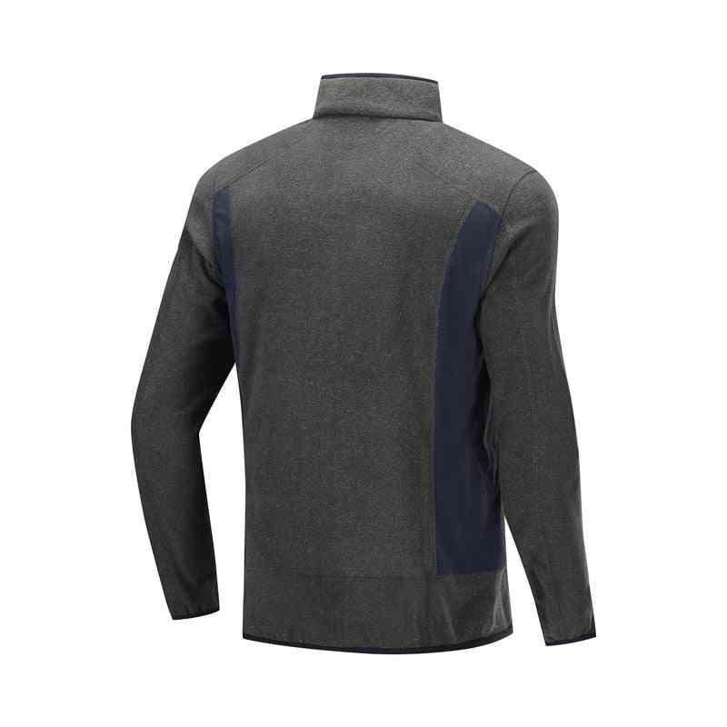 Men Outdoor Fleece Coat, Autumn & Winter Warm Regular Fit Sports Jacket