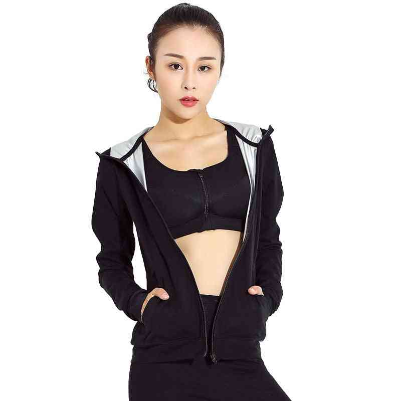 Women Running Suit, Slimming Body Shaper Pants And Long Sleeve Jackets