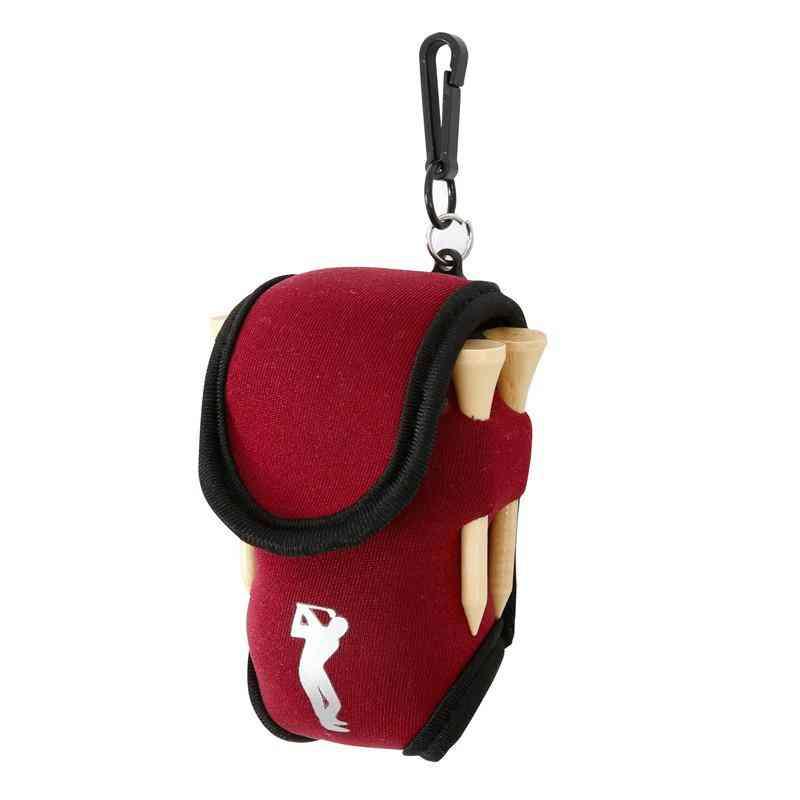 Small Golf Ball Bag, Mini Waist Pack Tee Neoprene Holder, Sports On For Outdoor Training Balls Pouch