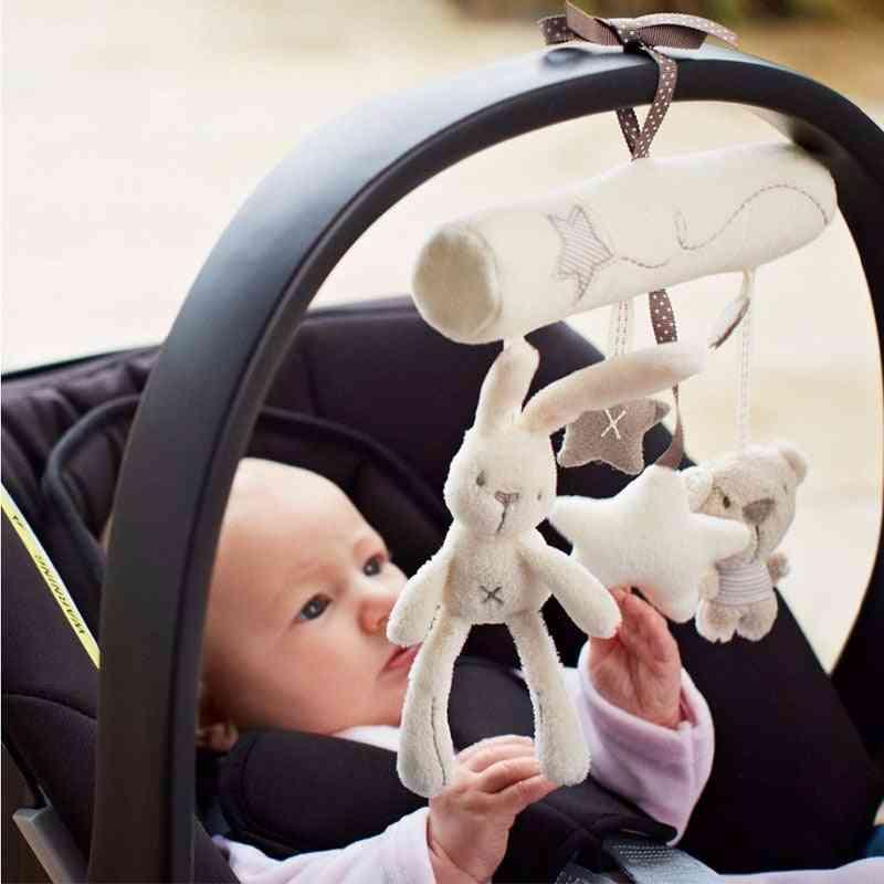 Cute Softmusic, Soft Plush Rabbit Star Hanging Toy