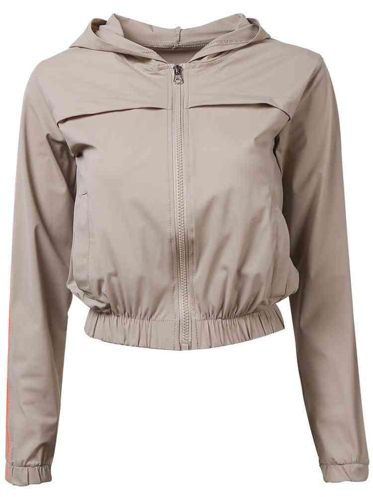 Hooded Sports Yoga Tops, Women Workout Jacket