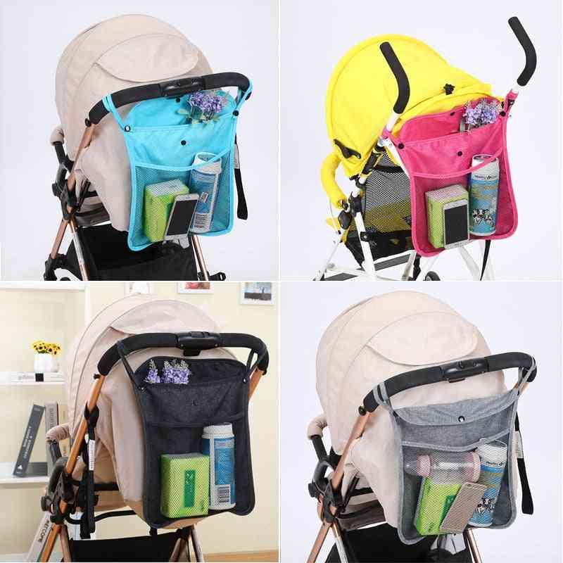 Baby Cart Mesh Hanging Storage Bag Trolley Seat With Pocket
