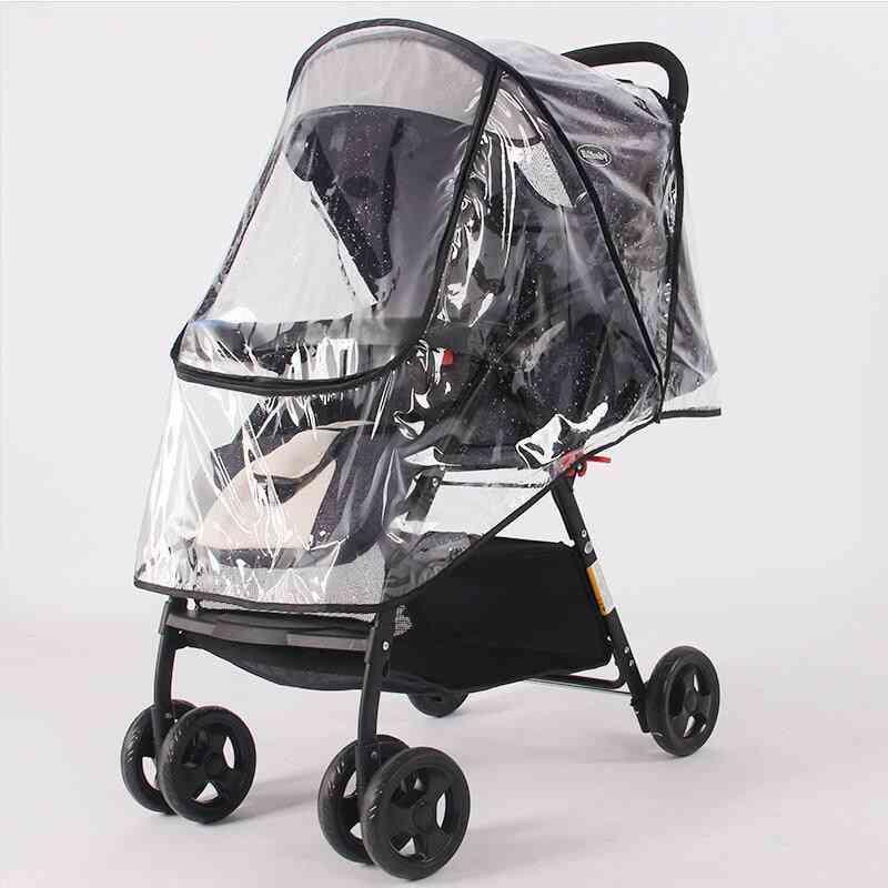 Waterproof Rain Cover, Transparent Wind Dust, Shield Zipper For Baby Strollers
