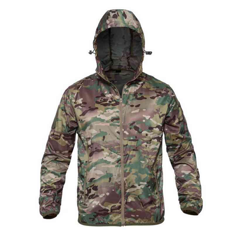 Men Military Camouflage Fleece Jacket