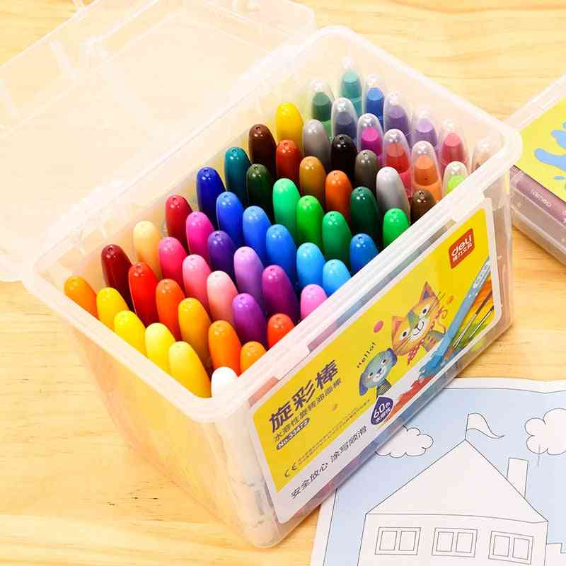 Drawing Diy Painting -graffiti Safe Non-toxic Washable Rotating Crayon