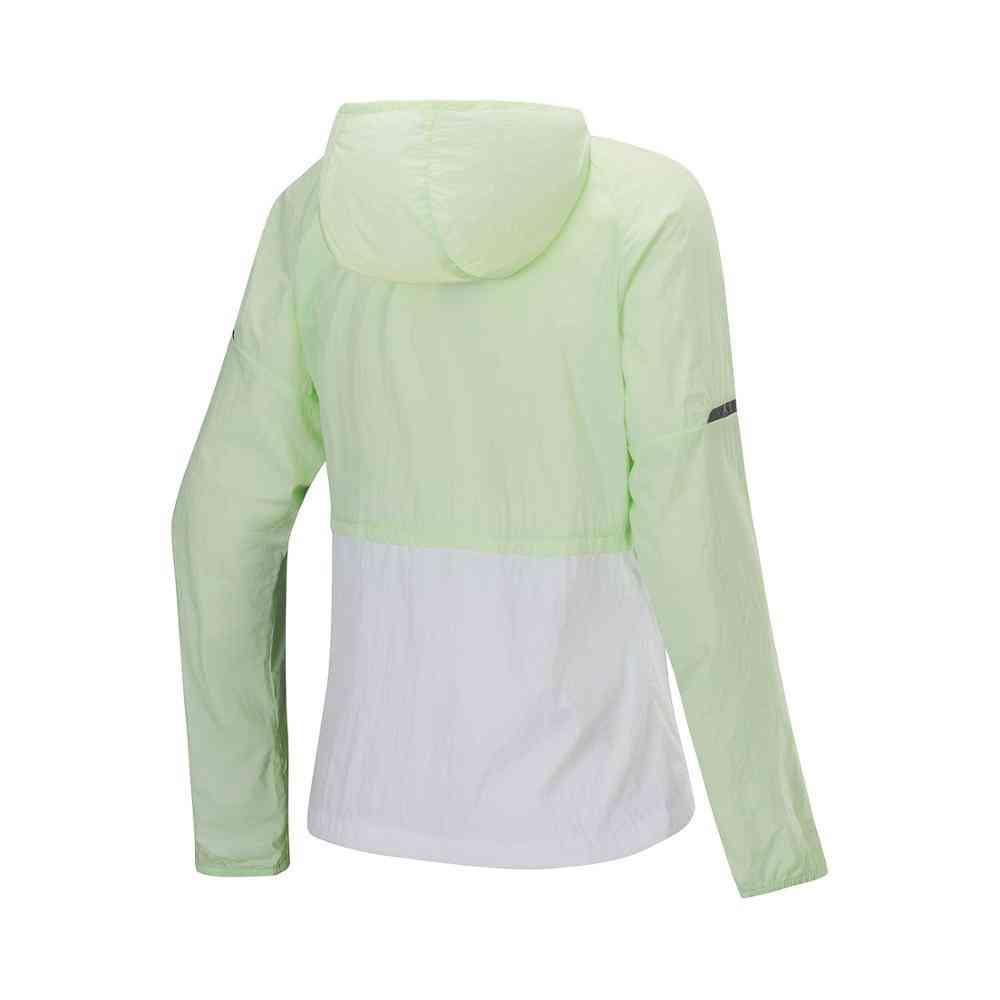 Women Running Series Windbreaker, Loose Fit Sport Coats - Hooded Jackets