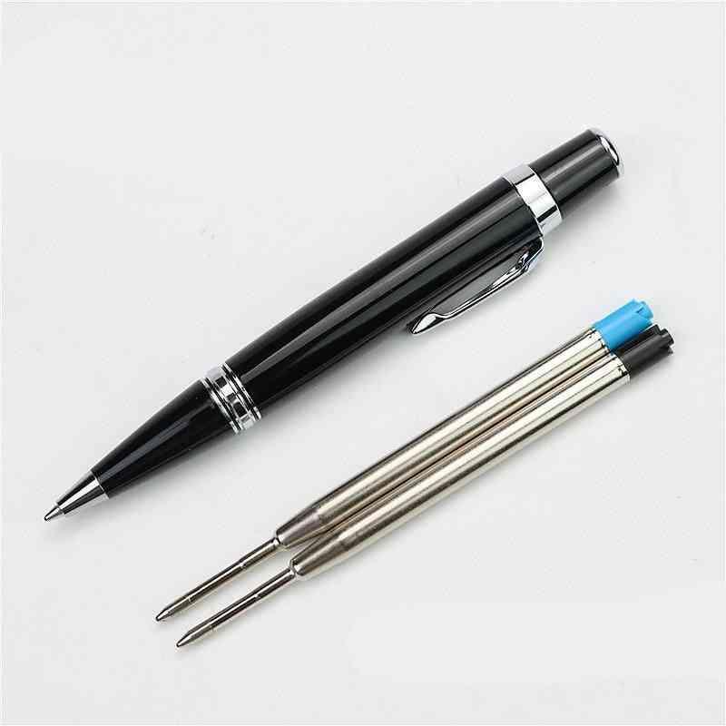 Mini Full Metal Short Ballpoint Pen & 2 Refills