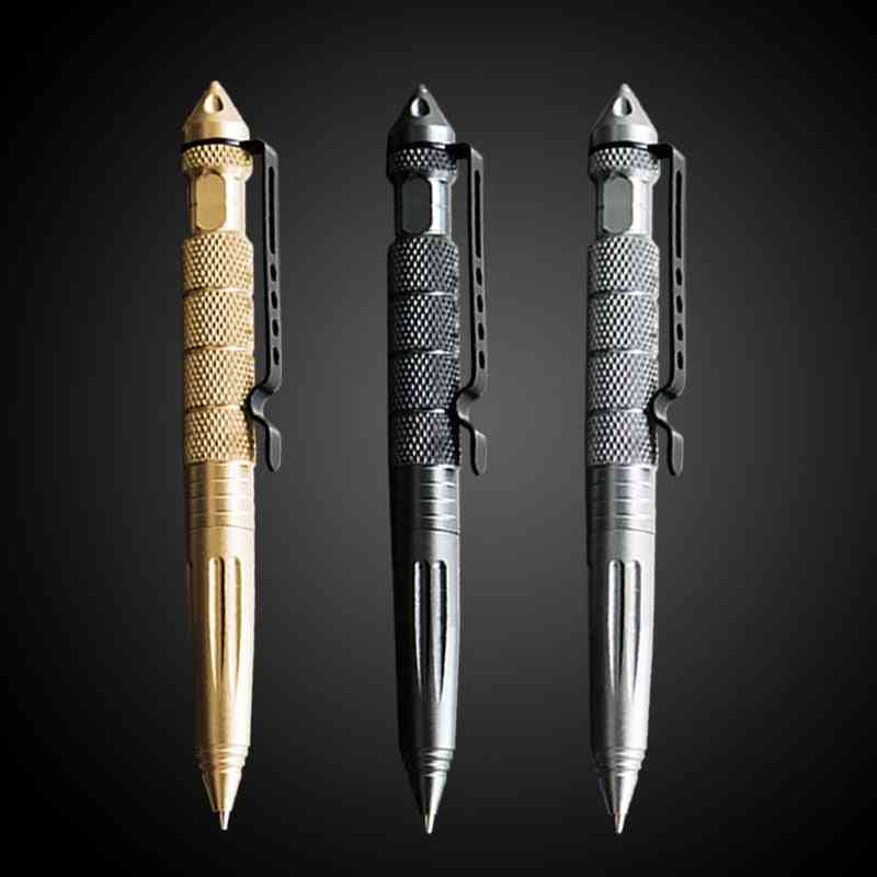 Tactical Tungsten Steel Rotating Multi-functional Pen, Window Glass