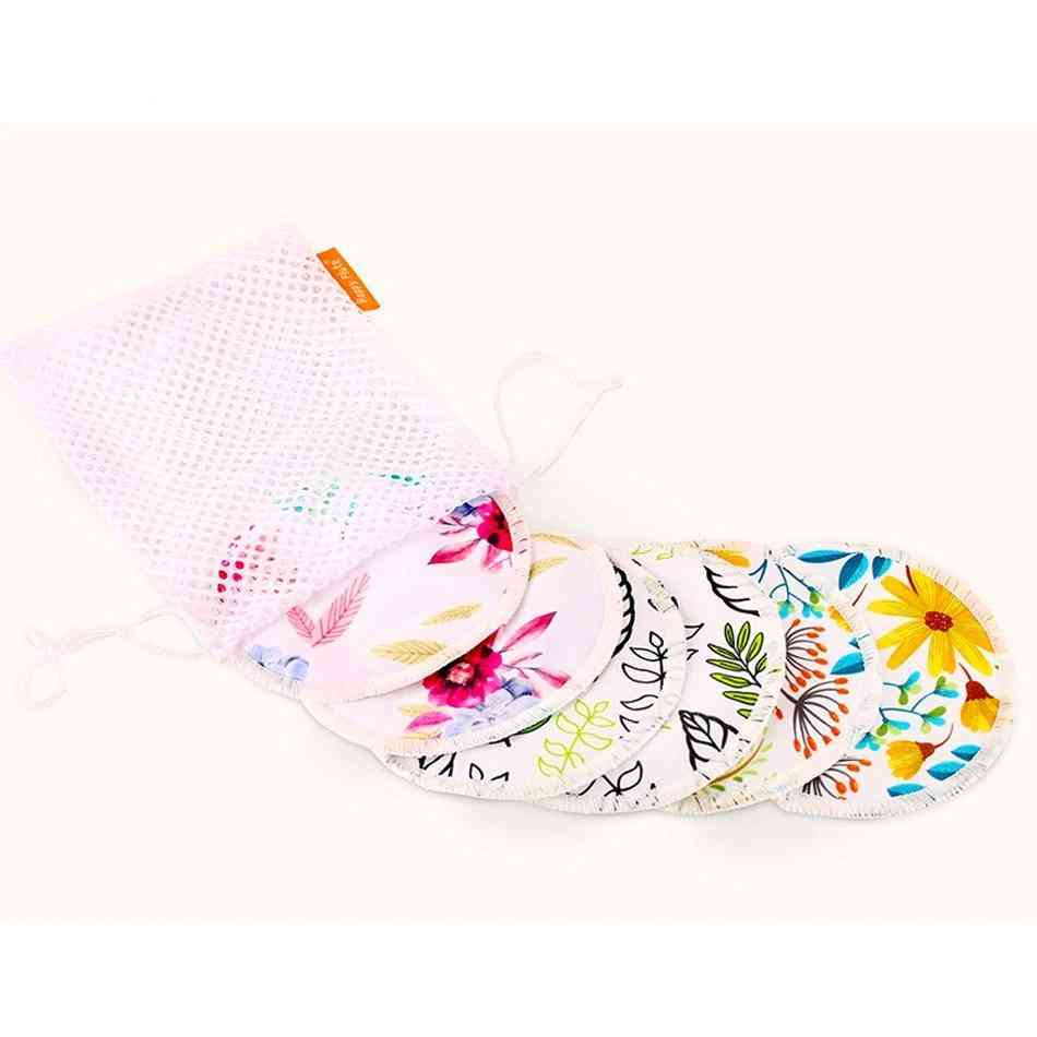 Reusable Breast Nursing Pads And Laundry Bag For Mum