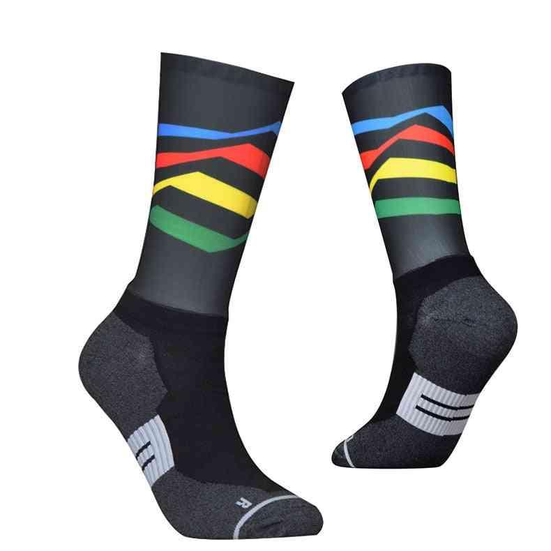 Anti Slip, Fiber Fabric Cycling Sports Socks