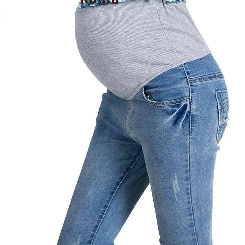 Elastic Waist Maternity Jeans Pants -clothes For Pregnant Women