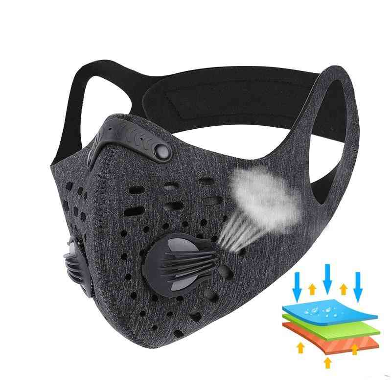 Pm 2.5 Anti Dust Face Mask With Activated Carbon Filter