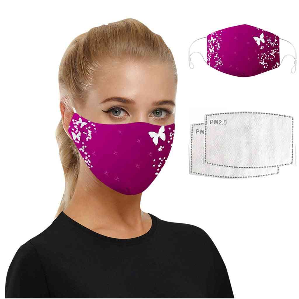 Washable Printed Pm2.5 Unisex Face Mask With 7 Layers Of Protection