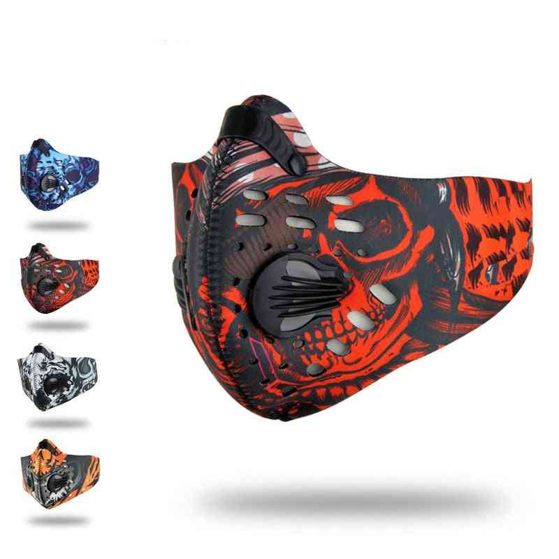 Activated Carbon, Dust-proof Sports Face Mask-unisex