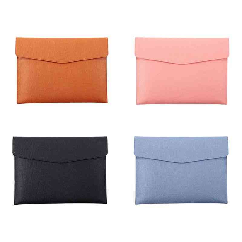 Waterproof Leather File Folder Bag For A4 Size Documents