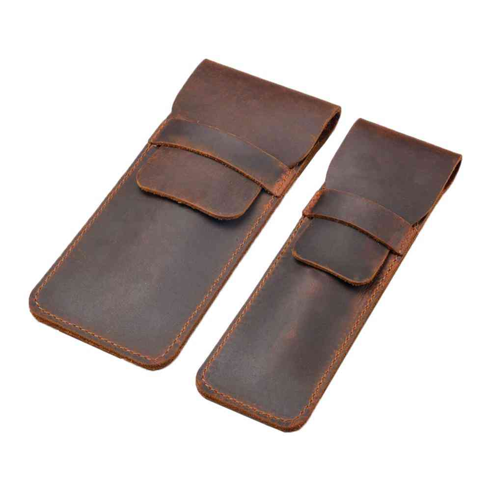 Soft Leather Pen Holder Pouch-protective Sleeve