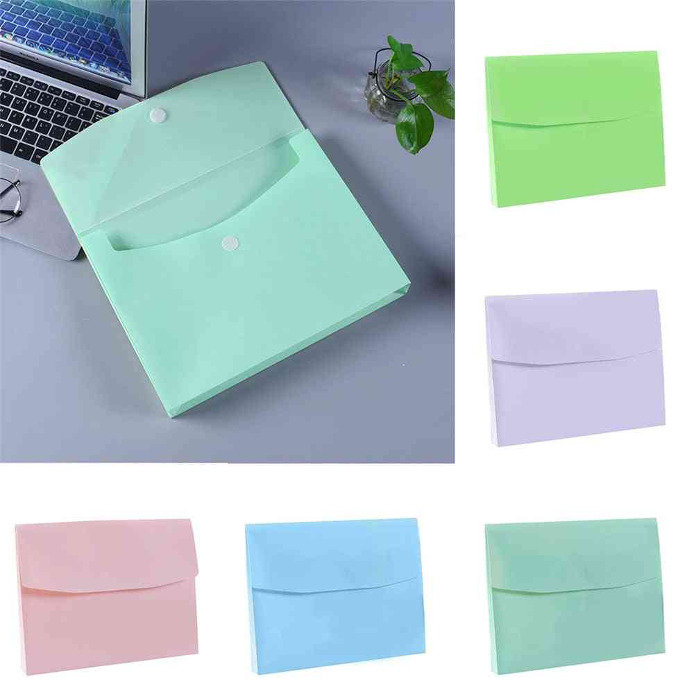 Hook And Loop Closure Envelope Folder For A4 Size Documents