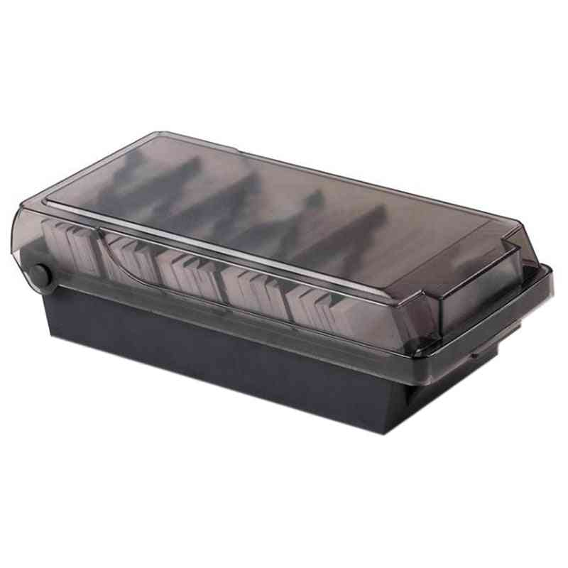 Business Card Holder And Storage Box- 4 Divider Board