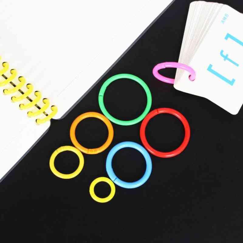 Plastic Ring Binder, Albums Loose-leaf Book Hoops