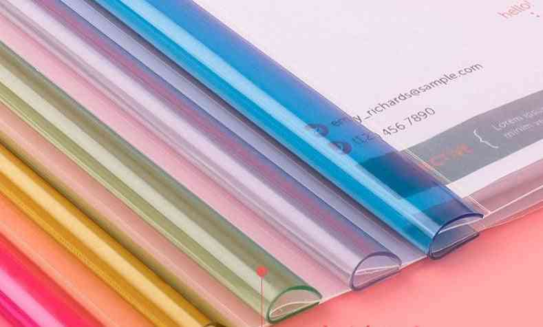 A4 Project Folder-pp Gloss Clear Cover For Reports/ Document/ Files