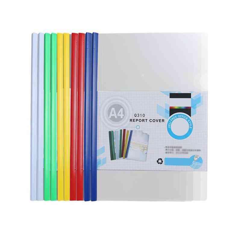 Colored Slide Bar File Folder For Home/school/office