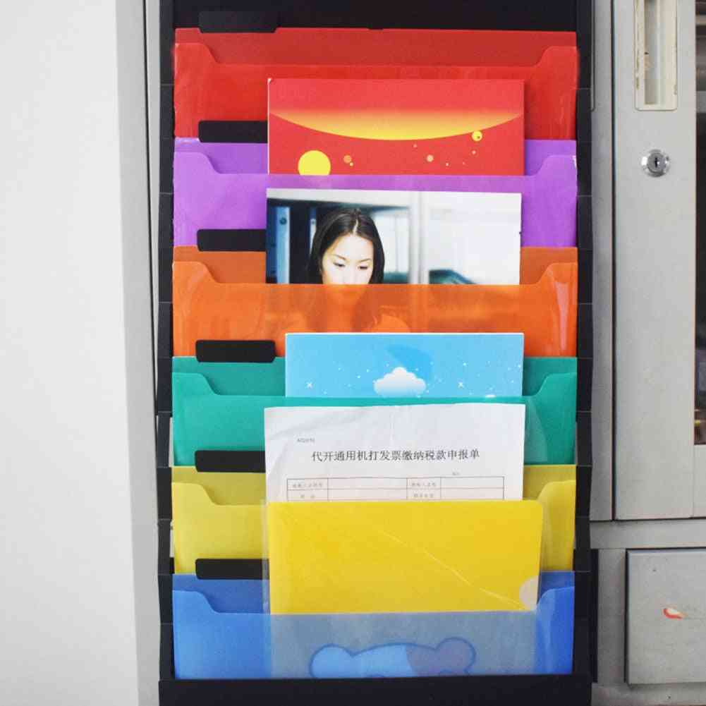 Wall Hanging, Portable Storage Rack With Pockets-expanding Structure For Documents