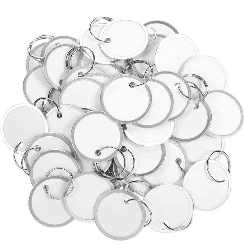 Round Paper Tags With Metal Ring For Car And Door Keys