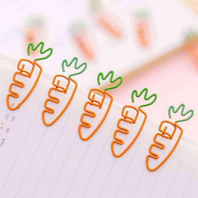 Carrot Shaped Metal Paper Clip