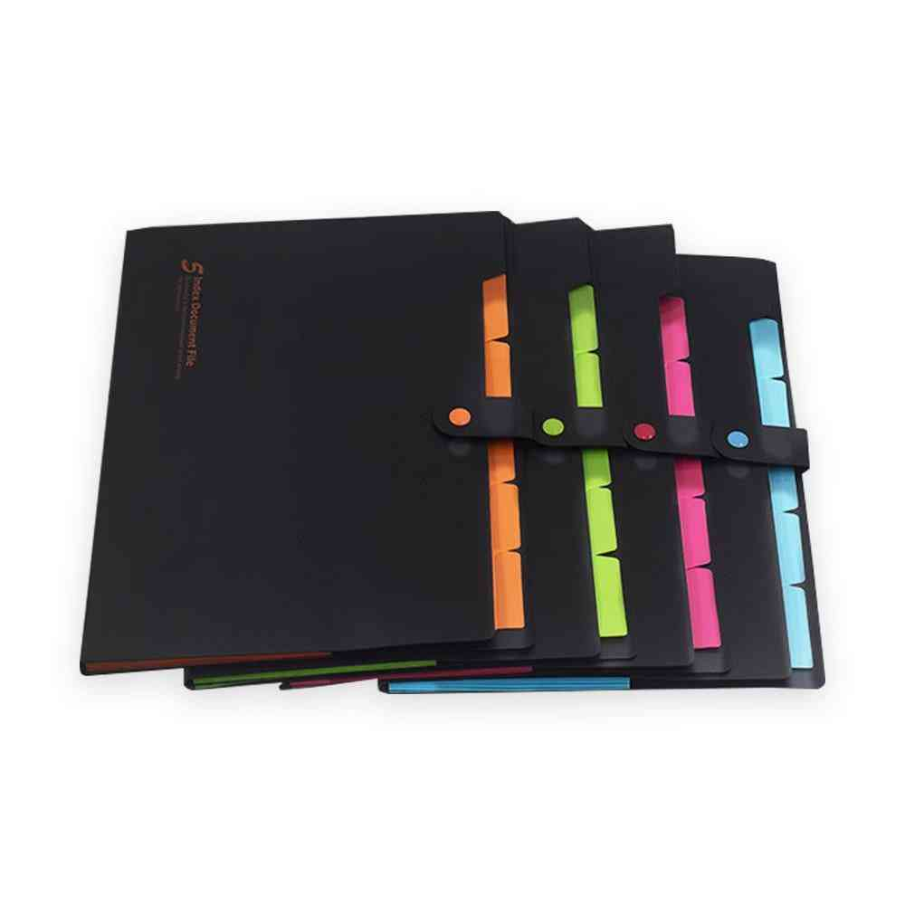A4 5-pocket Expanding Elastic Closure File Folders
